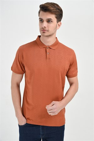 Pente Dinamik Fit Polo Yaka T-Shirt Kiremit